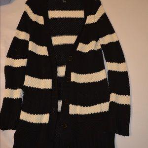 Black knit button down cardigan